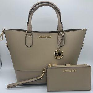 Michael Kors Trista Grab Bag Tote w/ Wristlet Set